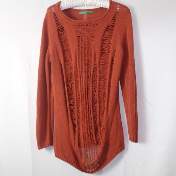 Celle Sweaters Womens Fashionable Burnt Orange Sweater Poshmark
